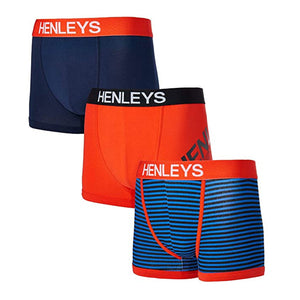 Henleys Mens Designer Soft Cotton Classic  Boxer Shorts - Pack of 3