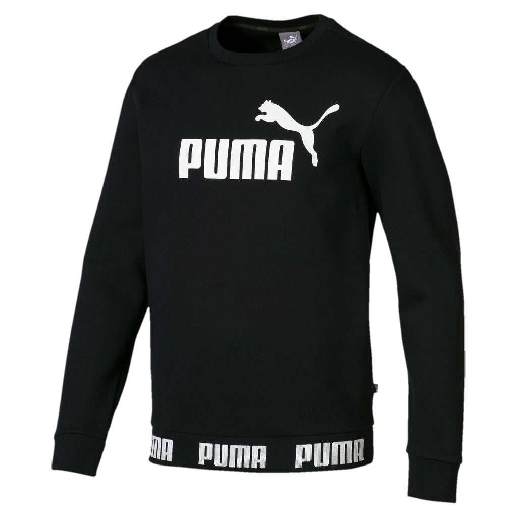 Puma Mens Amplified Big Logo Crew Fleeced Sweatshirt