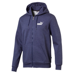 Puma Mens Essential Plus Full Zip Fleeced Hoodie