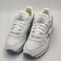 Reebok Womens Classic Leather Retro Trainers - White/Baby Blue - UK 4.5