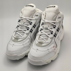 Reebok Womens Levity Leather Mid-Cut Retro Trainers - White - UK 4.5