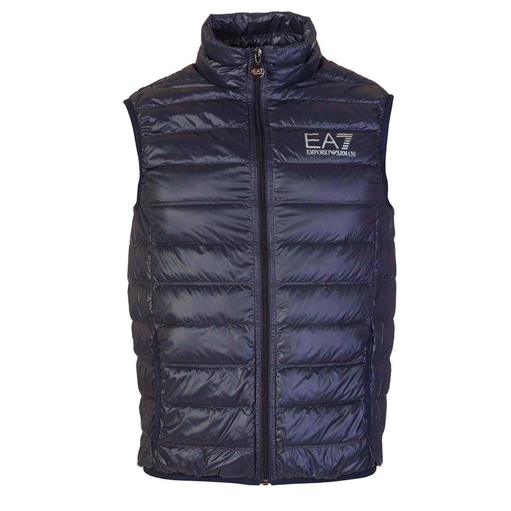 Emporio Armani EA7 Mens Train Core ID Logo Padded Down Sleeveless Gilet 8NPQ01