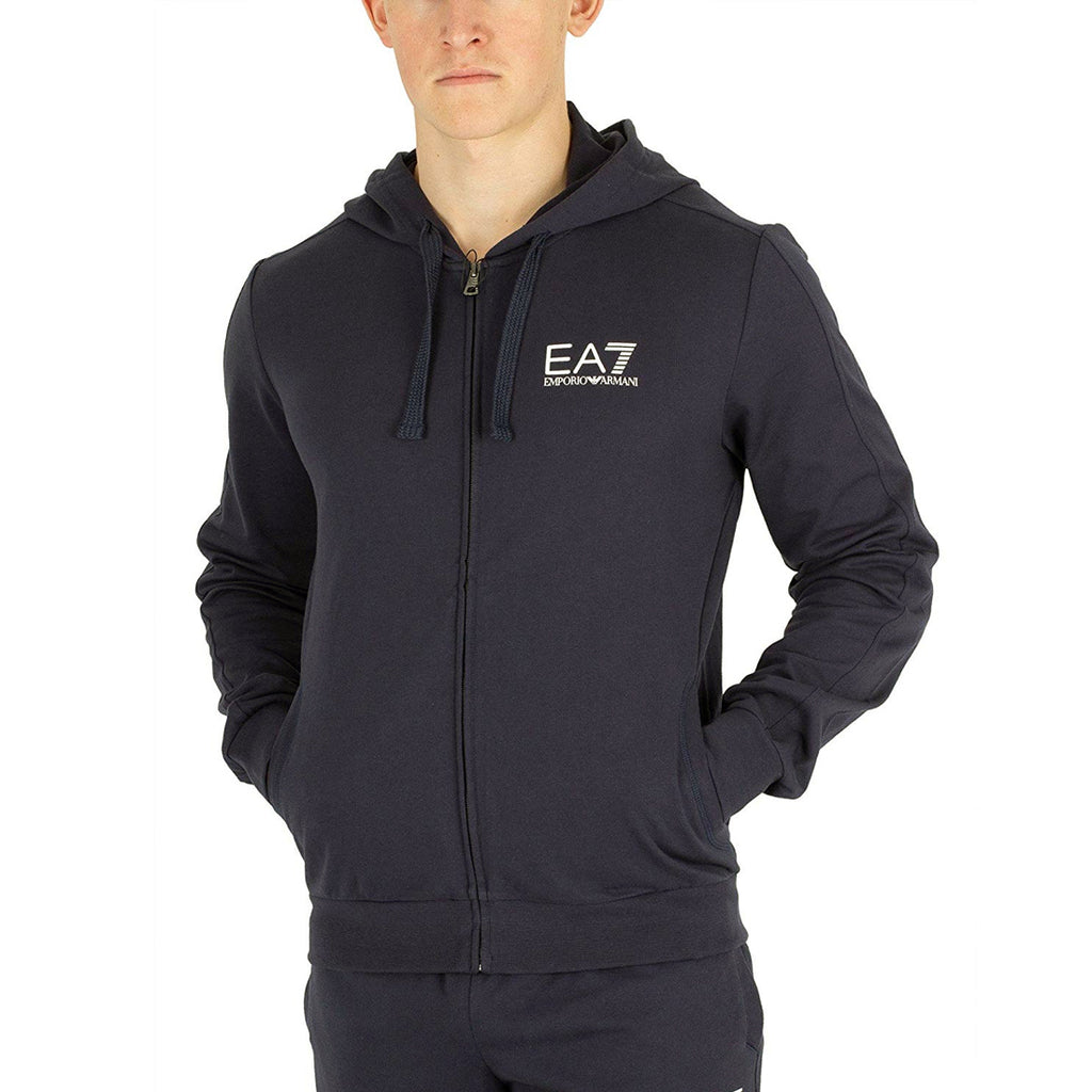 Emporio Armani EA7 Mens Core Sweat Lightweight Cotton Full-Zip Hoodie 3GPM59