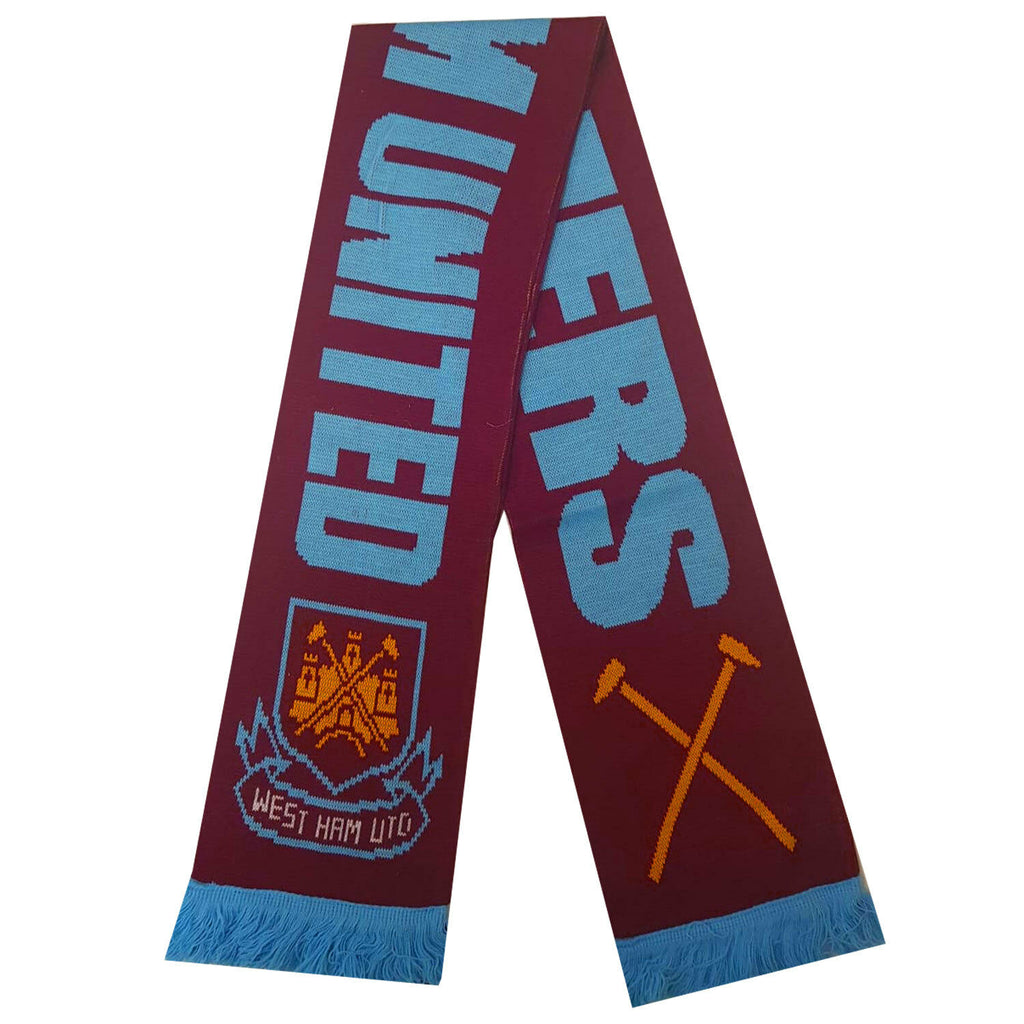 West Ham United Official Hammers Scarf