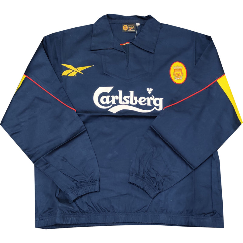Liverpool Mens Retro Original Mid 90's Drill Top - Navy - Large