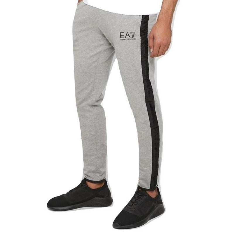 Emporio Armani EA7 Mens Core Logo Tapered Gym Pants With Branded Taping 3GPP60