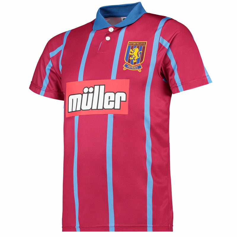 Score Draw Aston Villa FC 1994 Home Retro T-Shirt