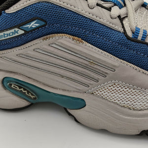 Reebok Womens Mistral DMX II Retro Tennis Shoes - Blue - UK 4.5