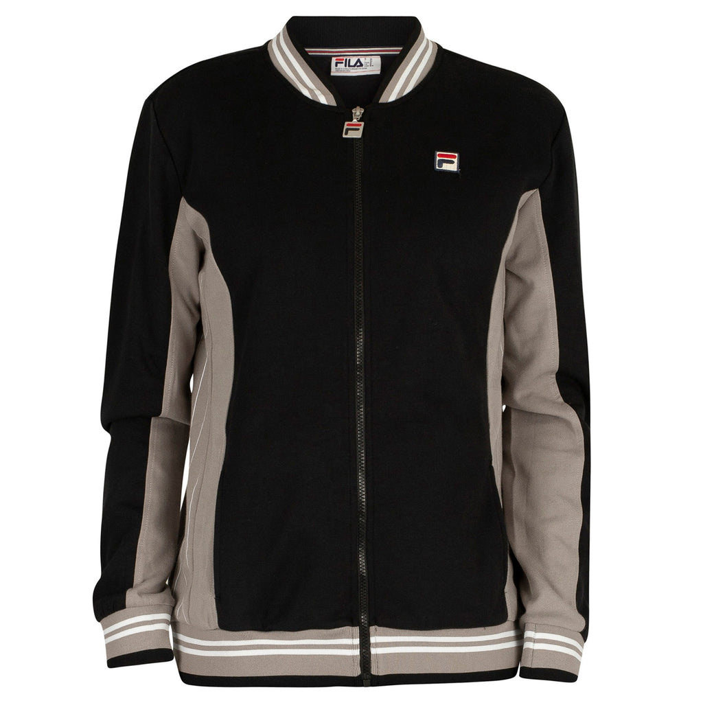 FILA Mens Settanta Retro Baseball Tracksuit Jacket - Black