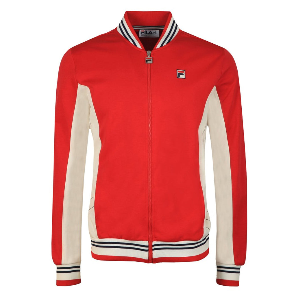 FILA Mens Settanta Retro Baseball Tracksuit Jacket - Red