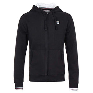 FILA Mens Vintage Tenconi Fleece Full Zip Hoodie - Black