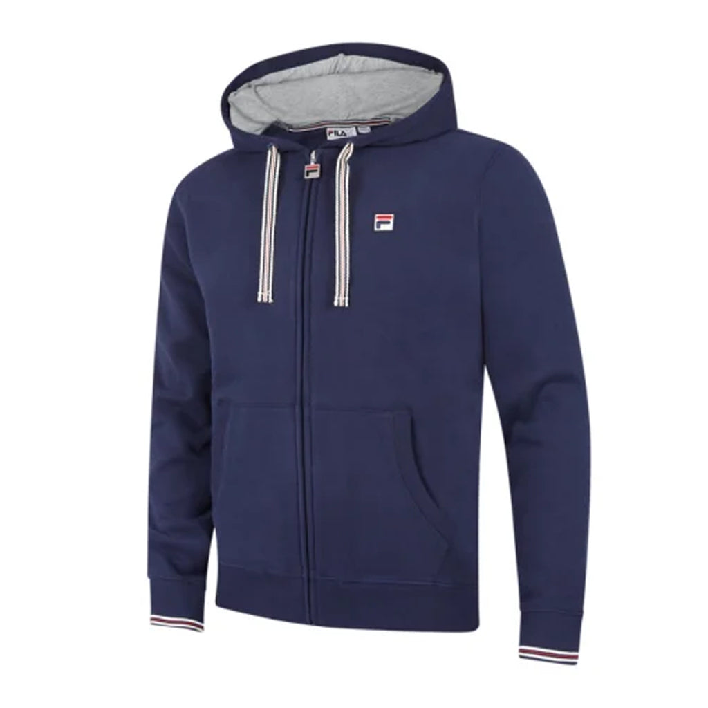 FILA Mens Vintage Tenconi Fleece Full Zip Hoodie - Peacoat
