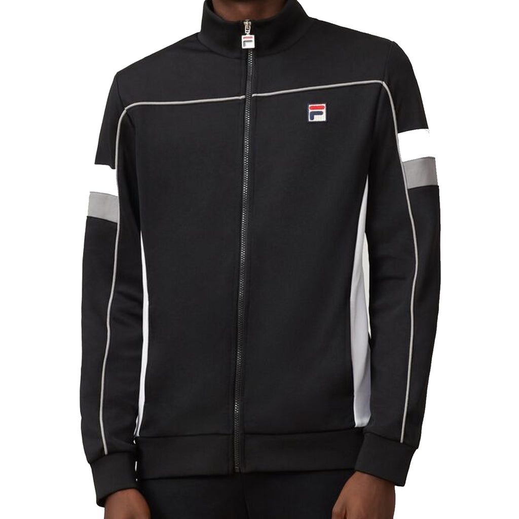FILA Mens Slalom Funnel Neck Full Zip Track Jacket - Black