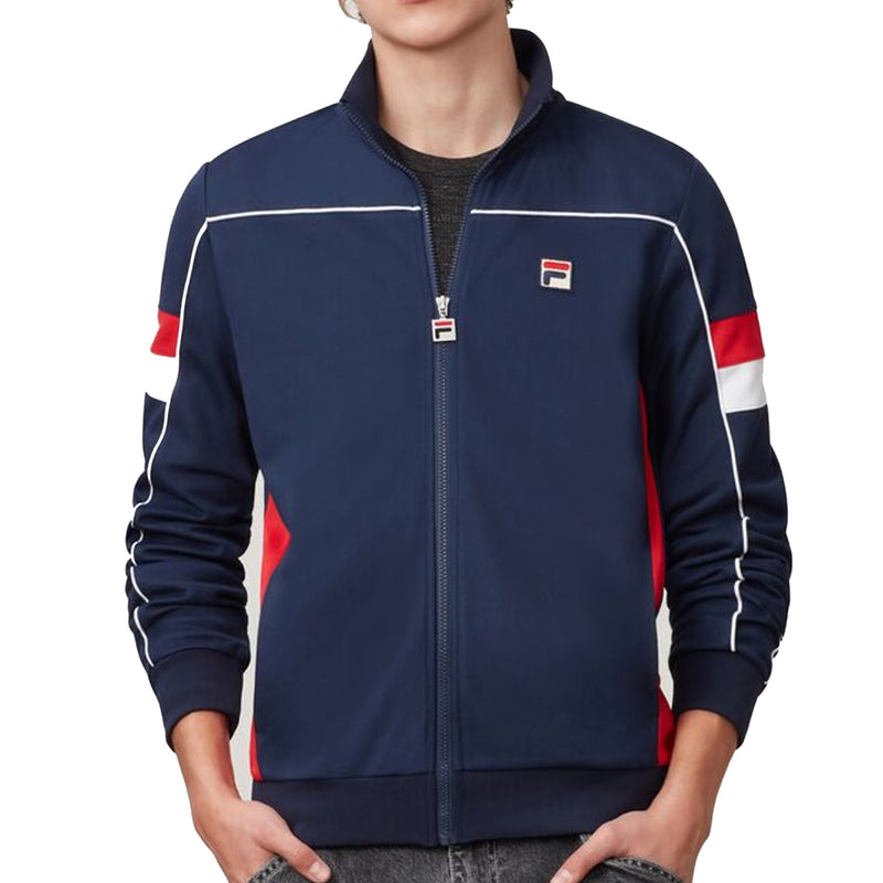 FILA Mens Slalom Funnel Neck Full Zip Track Jacket - Peacoat