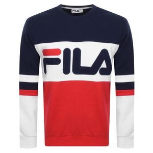 FILA Mens Freddie Colour Block Crew Sweatshirt - Peacoat