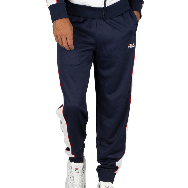 FILA Mens Yuri Color Block Tracksuit Pants - Peacoat