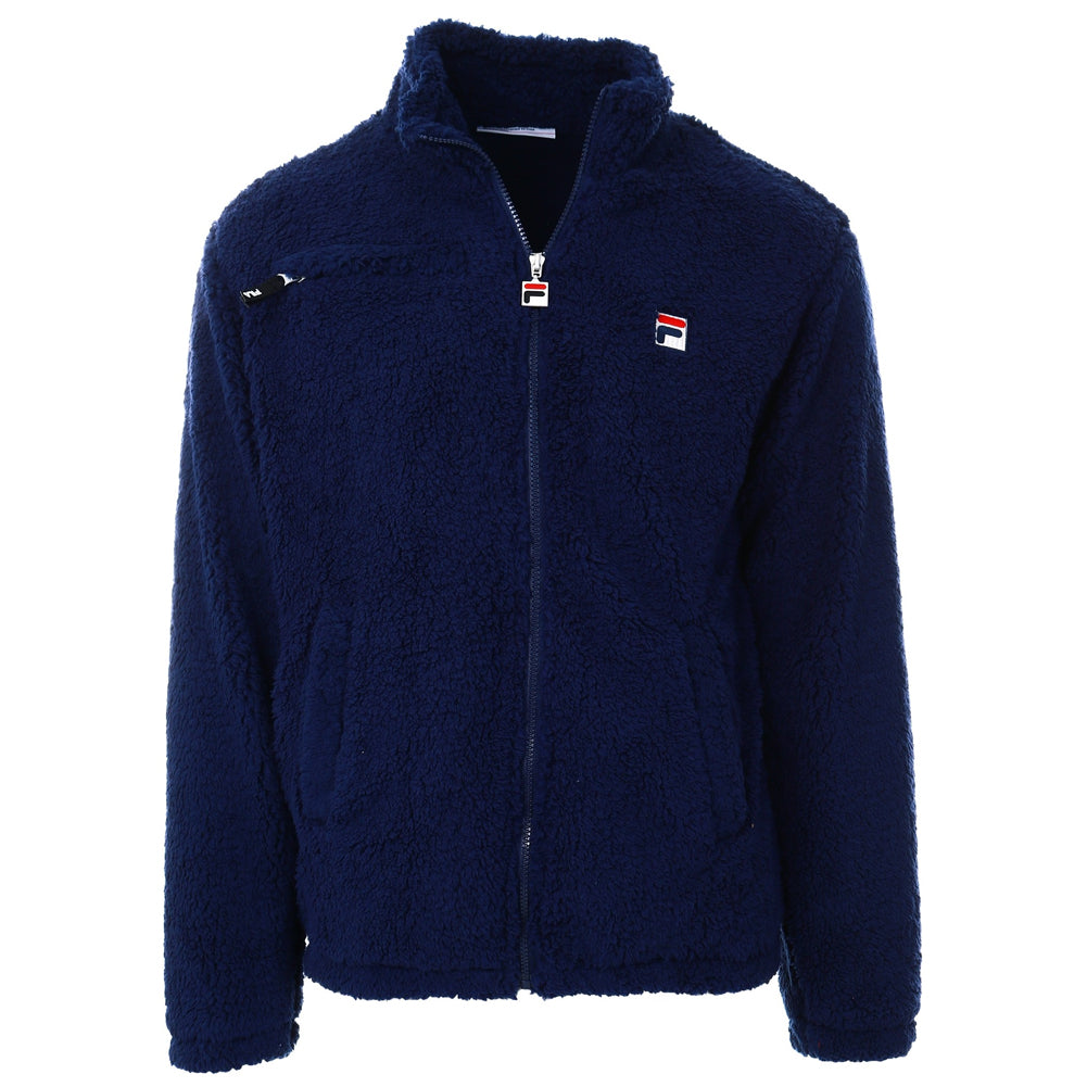 FILA Mens Bridgewater High Funnel Neck Sherpa Full Zip Jacket