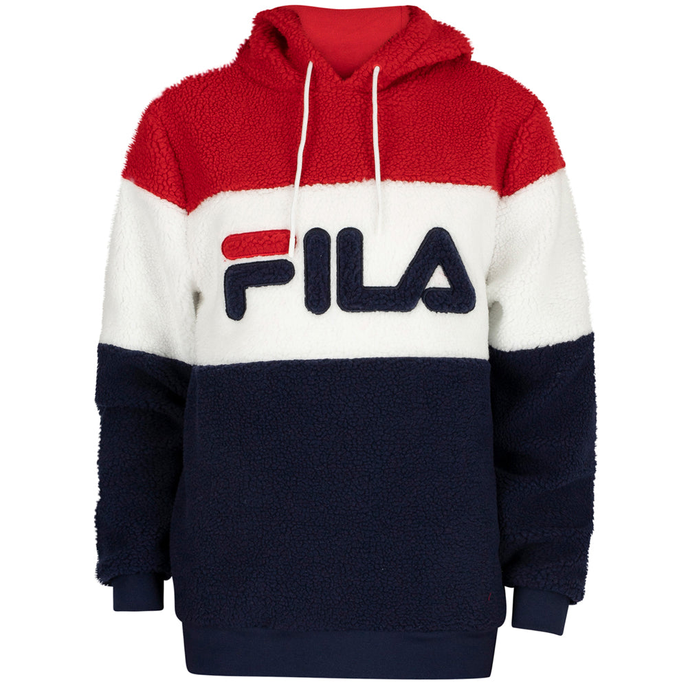 FILA Mens Boris Over The Head Pullover Hoodie