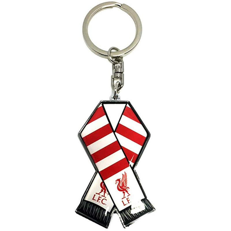 Liverpool FC Official Bar Scarf Metal Key Ring