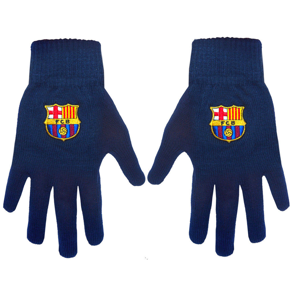 Barcelona FC Official Core Gloves - Navy