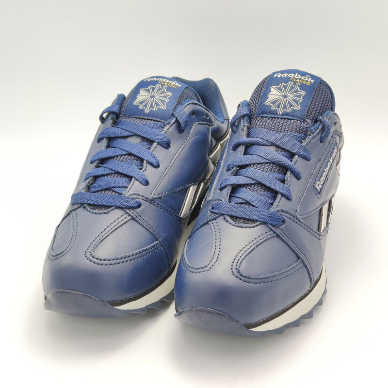 Reebok Womens Classic Leather Trial Retro Trainers - Blue - UK 3.5
