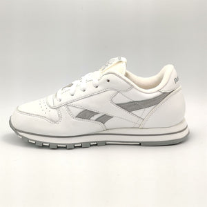 Reebok Junior Classic Leather Sparkle Retro Trainers - White/Grey - UK 3.5