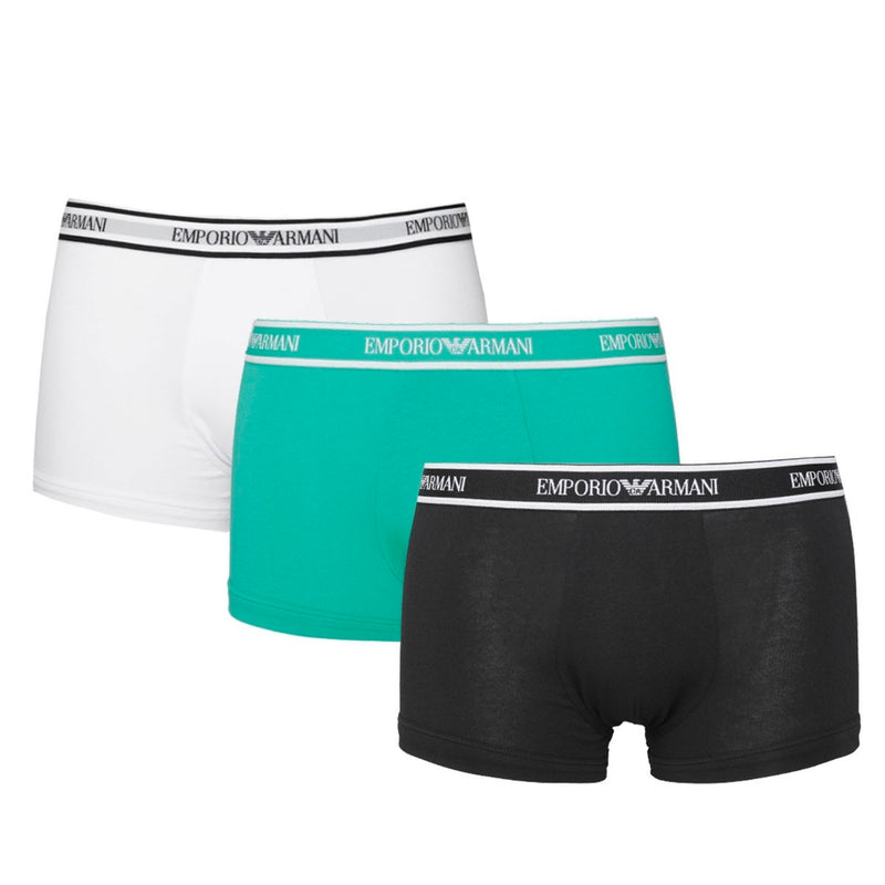 Emporio Armani Mens 111357-0P717 3 Pack Strech Cotton Trunk