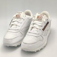 Reebok Juniot Classic Leather Pin Retro Trainers - White - UK 3.5