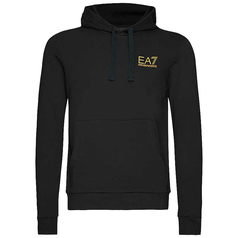 Emporio Armani EA7 Mens 3HPM18 Cotton Pull Over Hoodie - Black