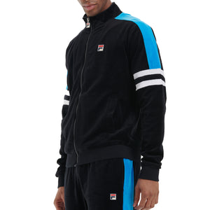 FILA Mens Shay Velour Zip Thru Track Jacket