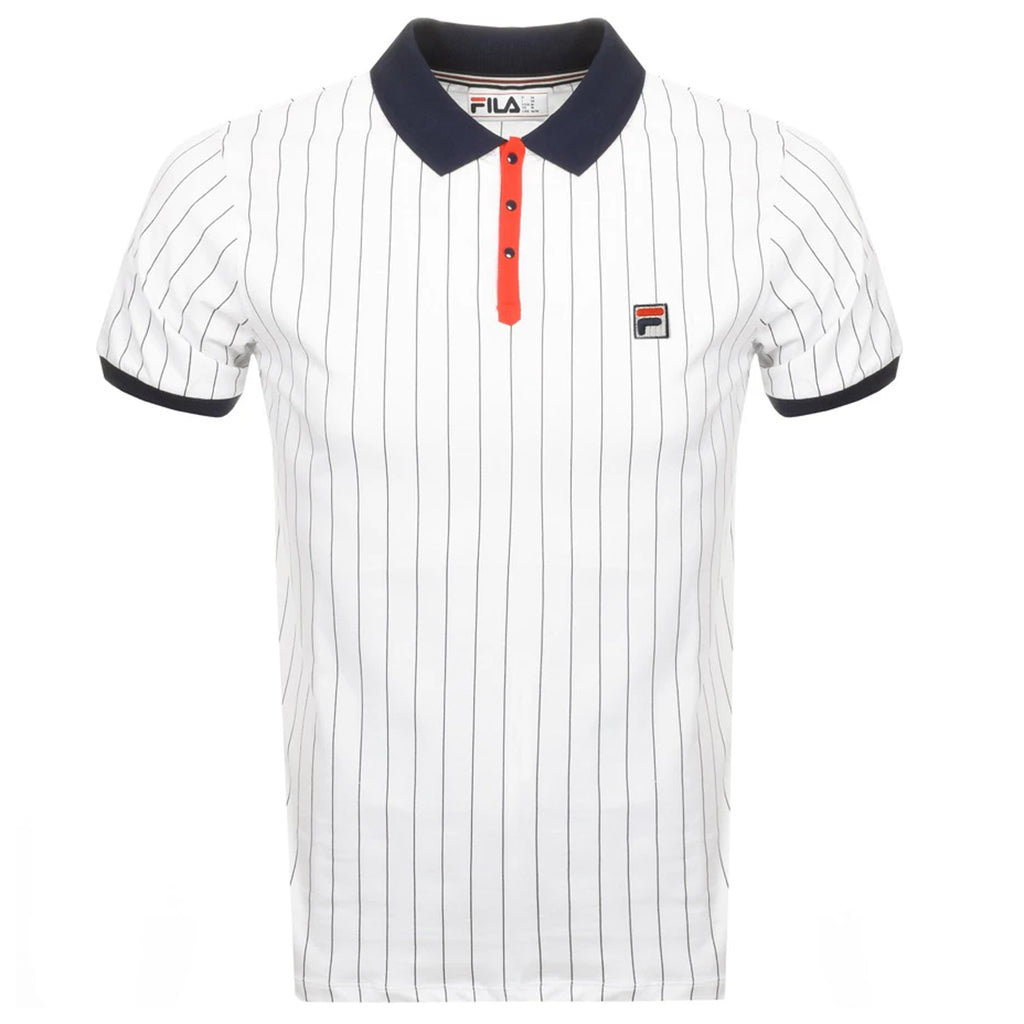 FILA Mens BB1 Borg Striped Polo Shirt