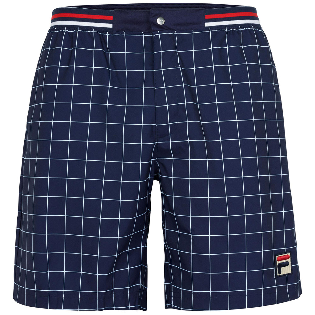 FILA Mens Windowpane Patterned Shorts