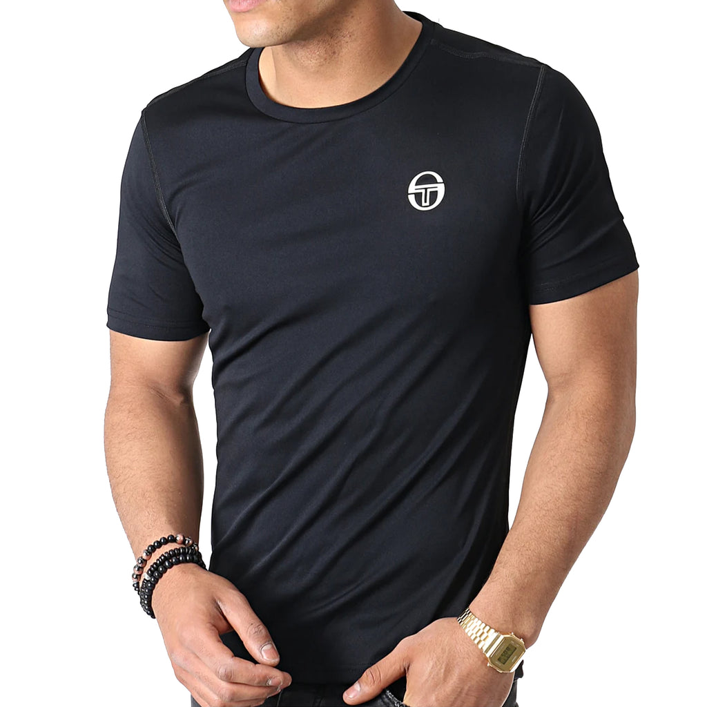 Sergio Tacchini Mens Zitan Short Sleeve Poly T-Shirt