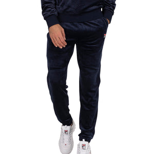 FILA Mens Gaston Tapered Velour Open Hem Trousers - Peacoat