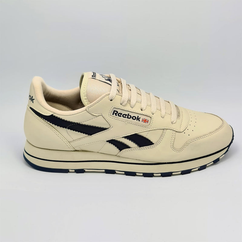 Reebok Classic Leather Mens Retro Trainers - Beige - UK 8
