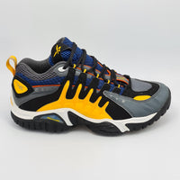 Reebok Classic Mens DMX Retro Trainers - Blue/Yellow - UK 8