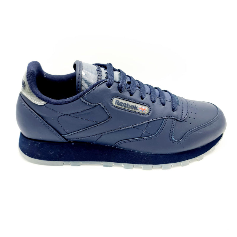 Reebok Classic Leather Mens Retro Trainers - Blue - UK 8