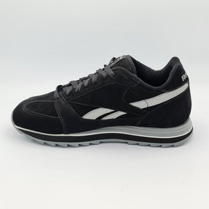 Reebok Mens Classic Leather Nubuck Retro Trainers - Black - UK 8