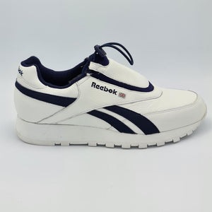 Reebok Mens Retro Drawstring Laced Trainers - White/Blue - UK 8