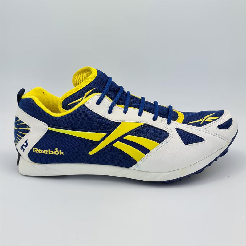 Reebok Mens Retro Track Running Trainers - White/Blue - UK 8
