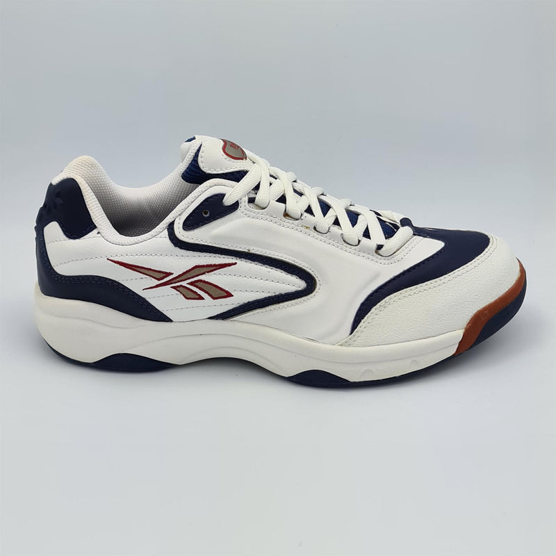 Reebok Mens Smash Court Tennis Shoes - White/Blue - UK 8