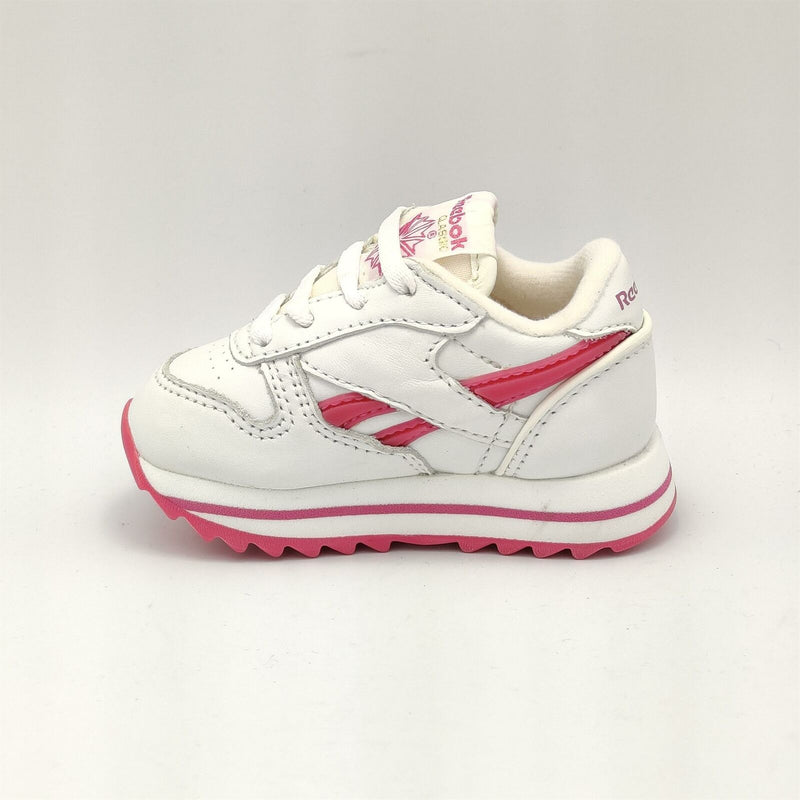 Reebok Infant Classic Leather Tutti Frutti Retro Trainers - White/Pink - UK K3.5