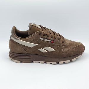 Reebok Classic Leather Nubuc Mens Retro Trainers - Brown  - UK 8