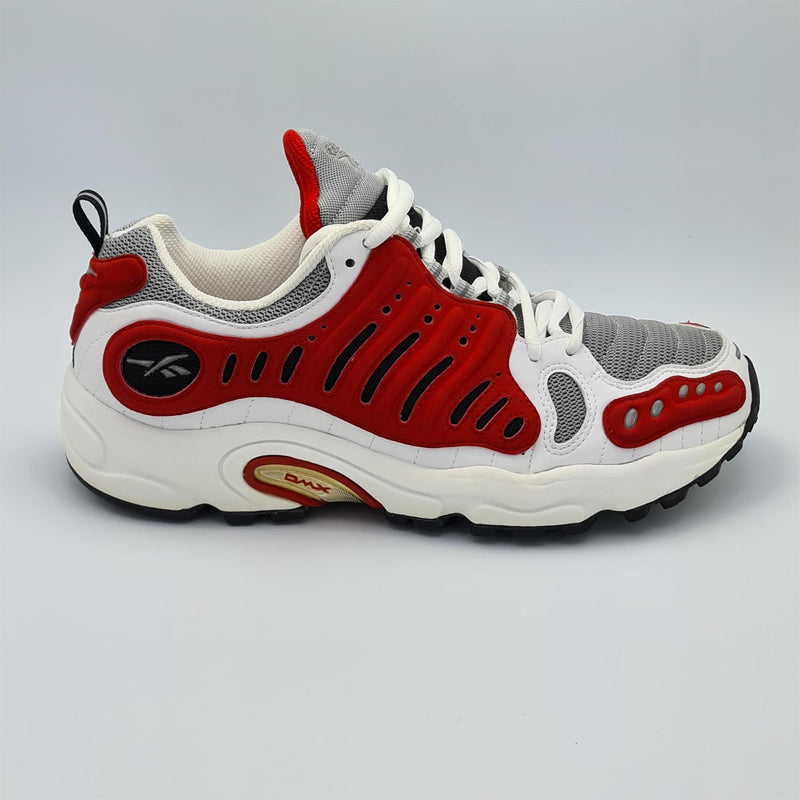 Reebok Mens Supreme Control DMX Cushioned Running Shoes - White/Red - UK 8