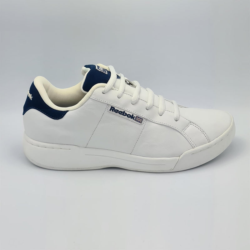 Reebok Mens Leather Workout Trainers - White - UK 8