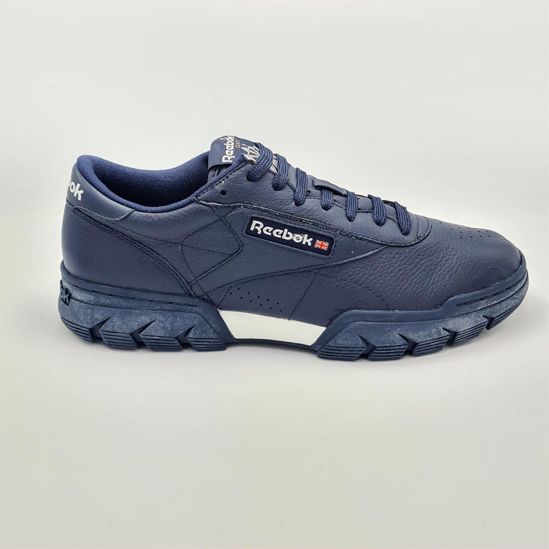 Reebok Mens Classic Leather Exofit Supreme Retro Trainers - Navy - UK 8