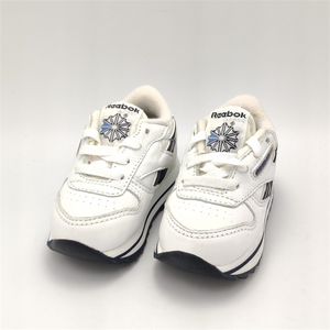 Reebok Infant Classic Leather Double Retro Trainers - White/Blue - UK K3.5