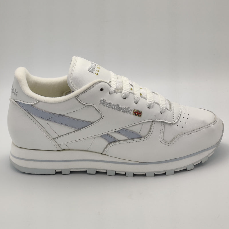 Reebok Womens Classic Leather Pin Stripes Retro Trainers - White - UK 4.5