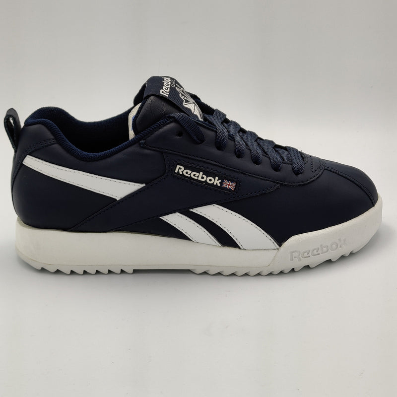 Reebok Womens Lancaster Leather Retro Trainers - Blue - UK 4.5