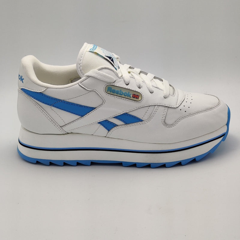 Reebok Womens Classic Leather Double Retro Trainers - White/Blue - UK 4.5